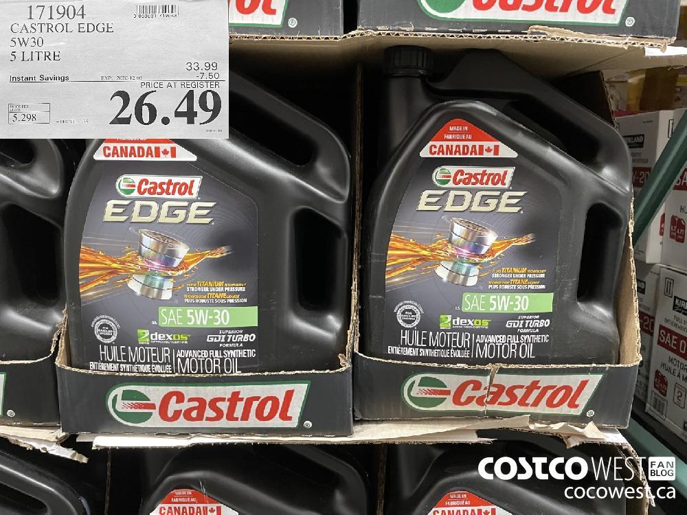 171904 CASTROL EDGE S5W30 5 LITRE EXP. 2020-12-03 $26.49