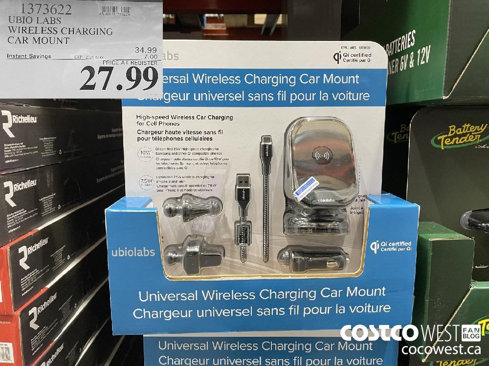 1373622 UBIO LABS WIRELESS CHARGING CAR MOUNT EXP. 2020-12-06 $27.99
