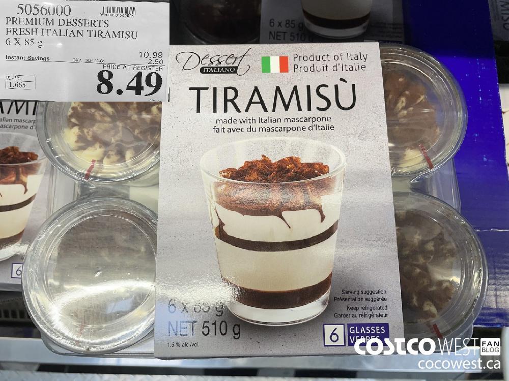 5056000 PREMIUM DESSERTS FRESH ITALIAN TIRAMISU 6X 85 g EXP. 2020-12-06 $8.49