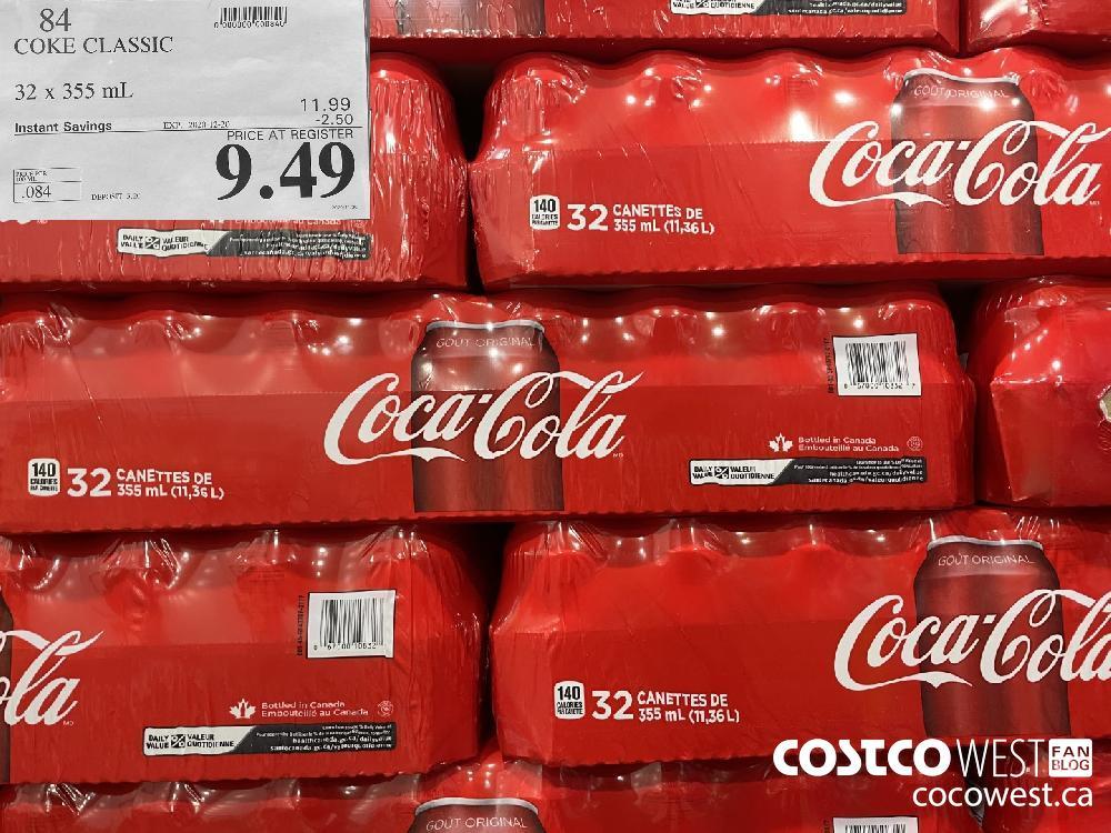 84 COKE CLASSIC 32 x 355 mL EXP. 2020-12-20 $9.49