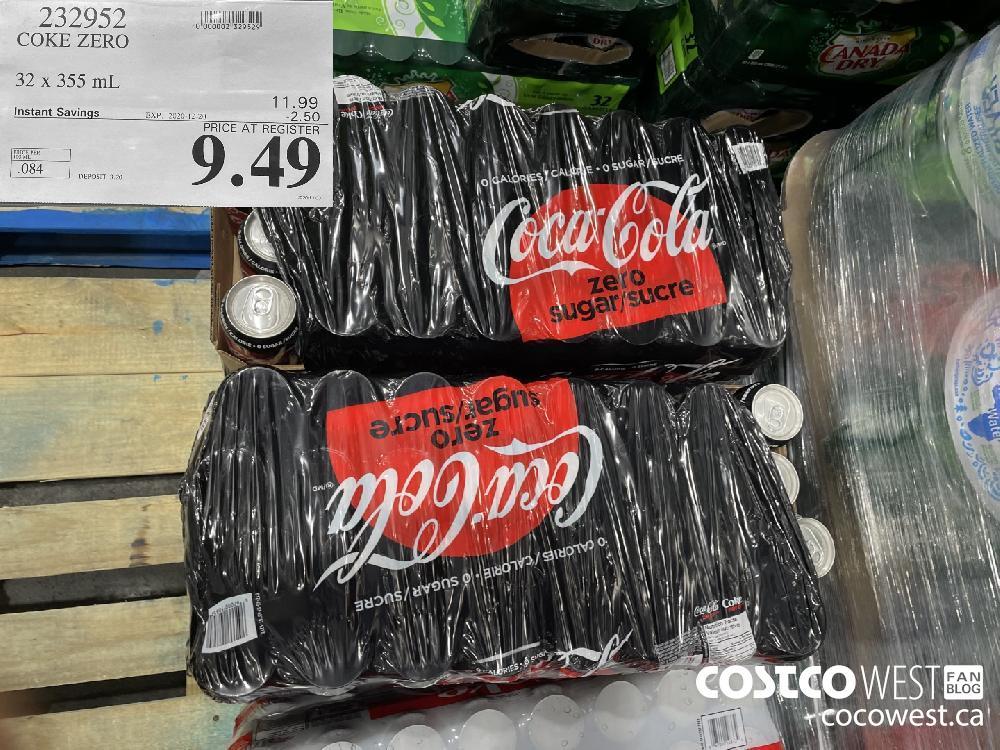 232952 COKE ZERO 32 x 355 mL EXP. 2020-12-20 $9.49