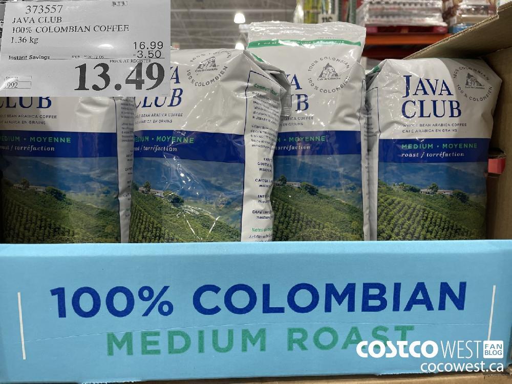 373557 JAVA CLUB 100% COLOMBIAN COFFEE 1.36 kg EXP. 2020-12-06 $13.49