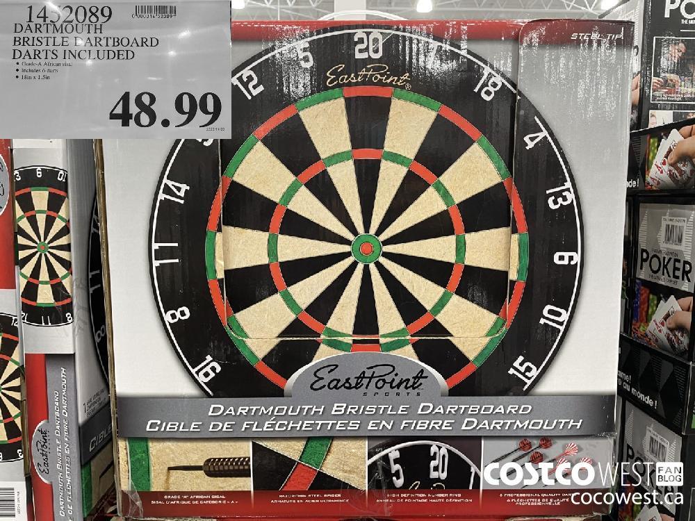1452089 DARTMOUTH BRISTLE DARTBOARD DARTS INCLUDED $48.99