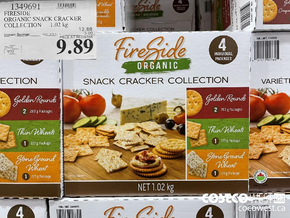 1349691 FIRESIDE ORGANIC SNACK CRACKER COLLECTION 1.02 kg EXP. 2020-12-13 $9.89
