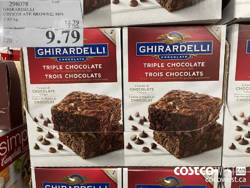 298078 GHIRARDELLI CHOCOLATE BROWNIE MIX 2.83 kg EXP. 2020-12-20 $9.79