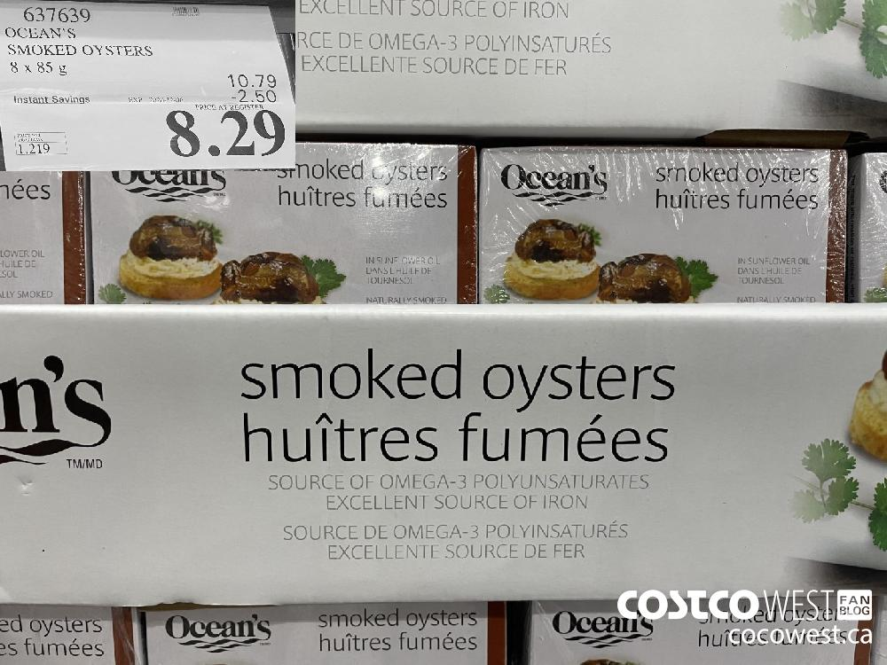 637639 SMOKED OYSTERS 8 x 85 g EXP. 2020-12-06 $8.29
