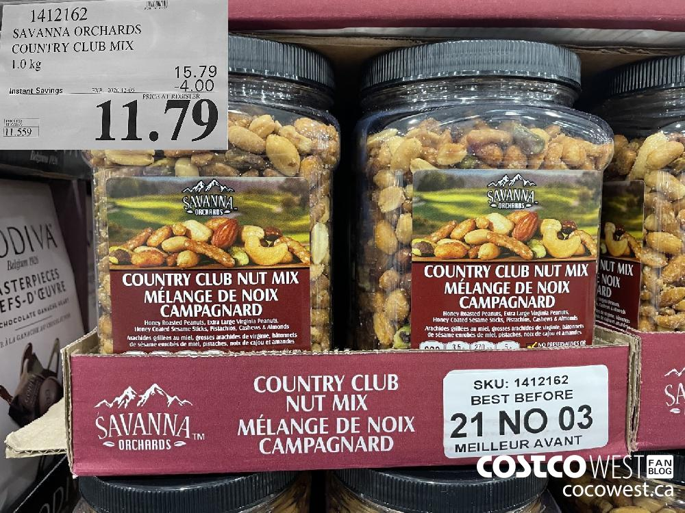 1412162 SAVANNA ORCHARDS COUNTRY CLUB MIX 1.0 kg EXP. 2020-12-06 $11.79