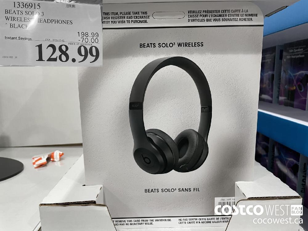 1336915 BEATS SOLO 3 WIRELESS HEADPHONES BLACK EXP. 2020-12-02 $128.99