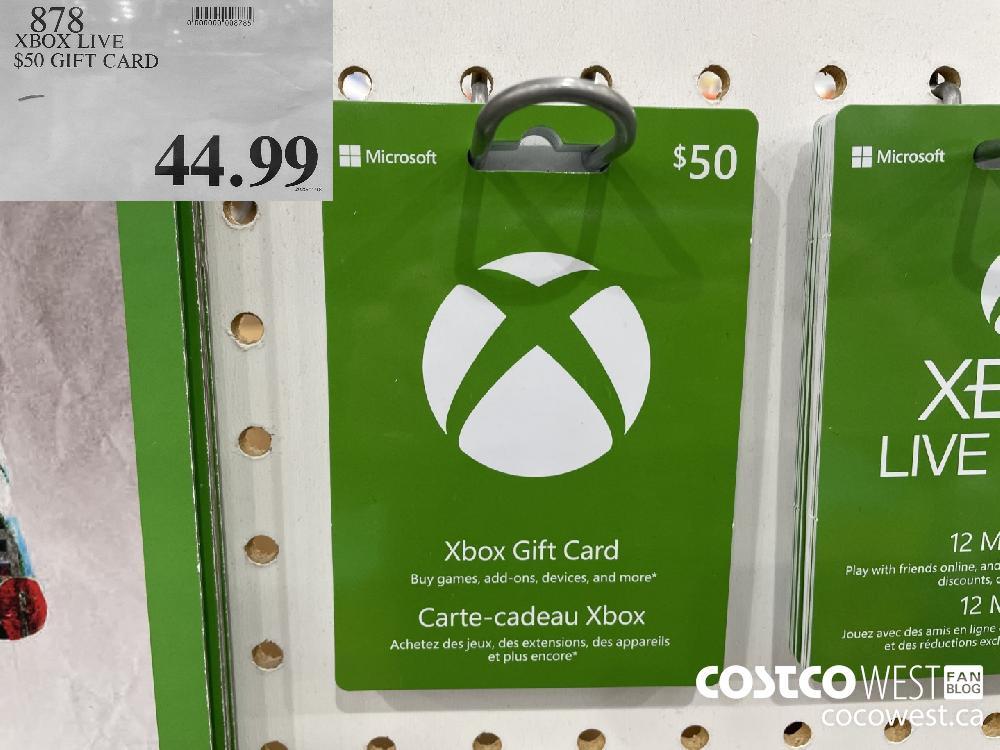 787 XBOX LIVE $50 GIFT CARD $44.99