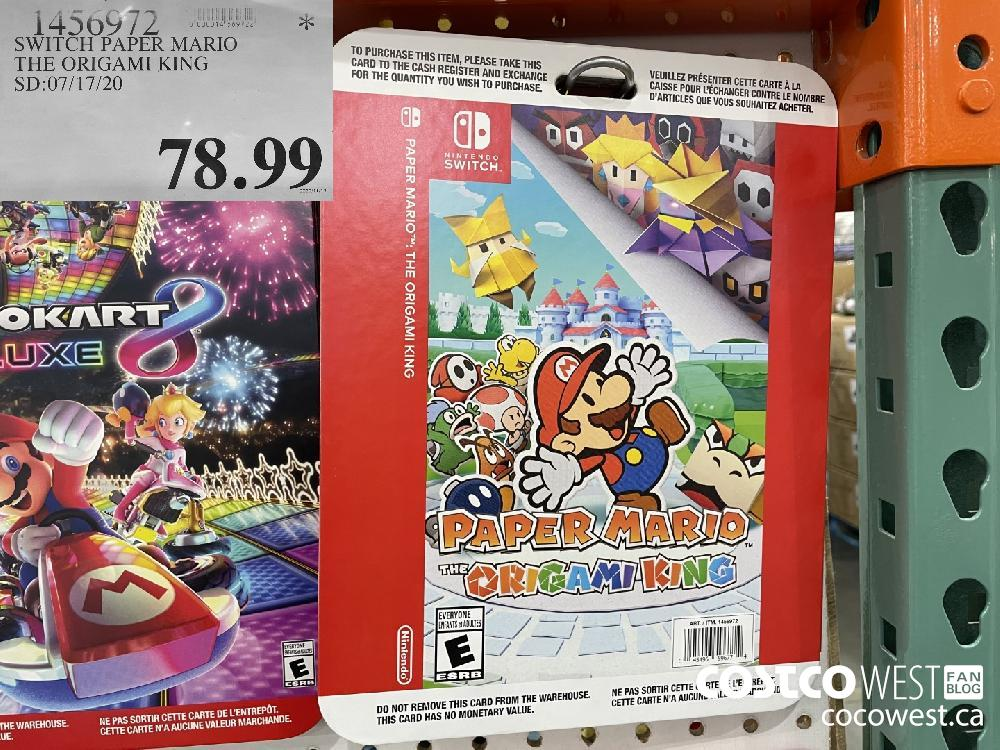 1456972 SWITCH PAPER MARIO THE ORIGAMI KING SD:07/17/20 $78.99