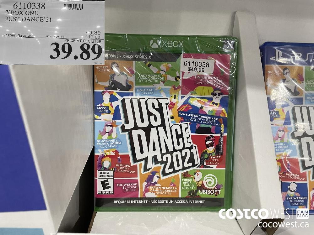 6110338 XBOX ONE JUST DANCE'21 EXP. 2020-12-04 $39.89
