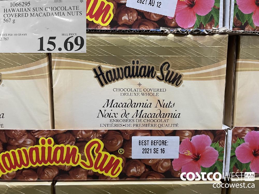1066295 HAWAIIAN SUN CHOCOLATE COVERED MACADAMIA NUTS 567 g $15.69