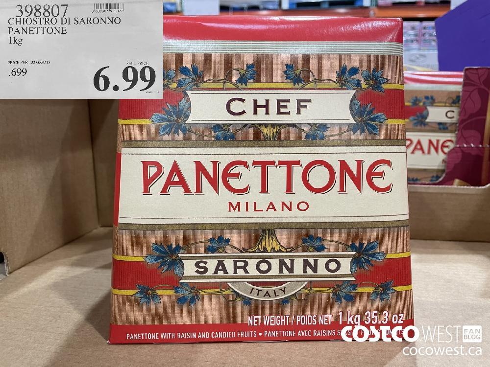 398807 CHIOSTRO DI SARONNO PANETTONE 1 kg $6.99