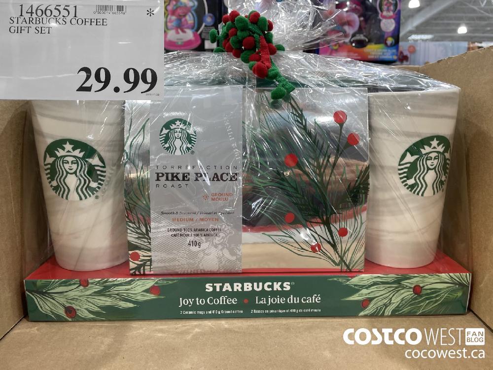 1466551 STARBUCKS COFFEE GIFT SET $29.99