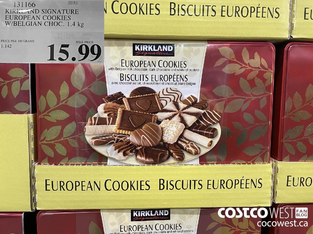 131166 KIRKLAND SIGNATURE EUROPEAN COOKIES W/BELGIAN CHOC. 1.4 kg $15.99