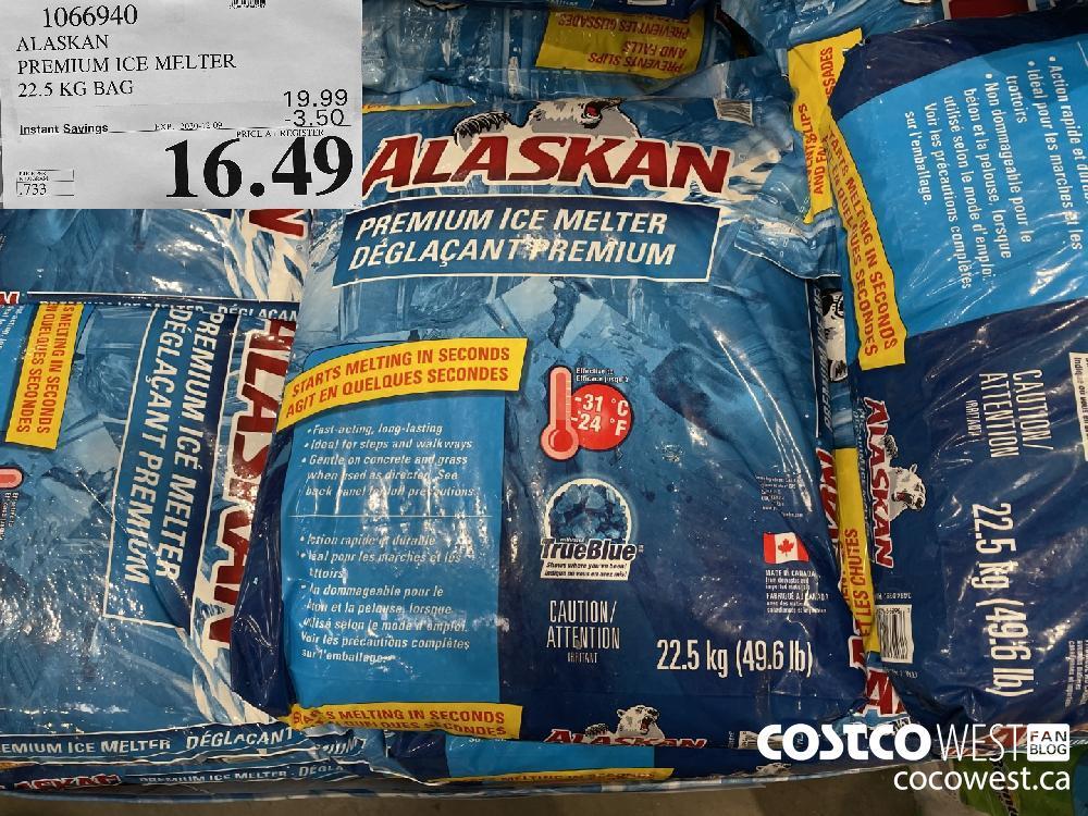 1066940 ALASKAN PREMIUM ICE MELTER 22.5 KG BAG EXP. 2020-12-09 $16.49