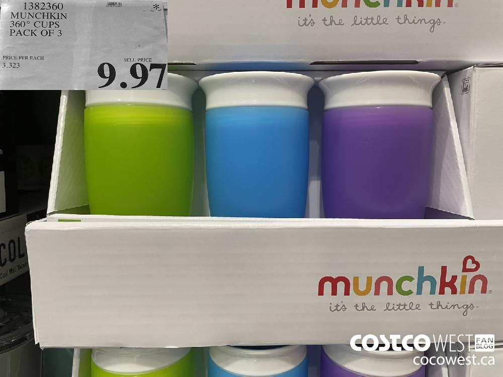1382360 MUNCHKIN 360° CUPS PACK OF 3 $9.97