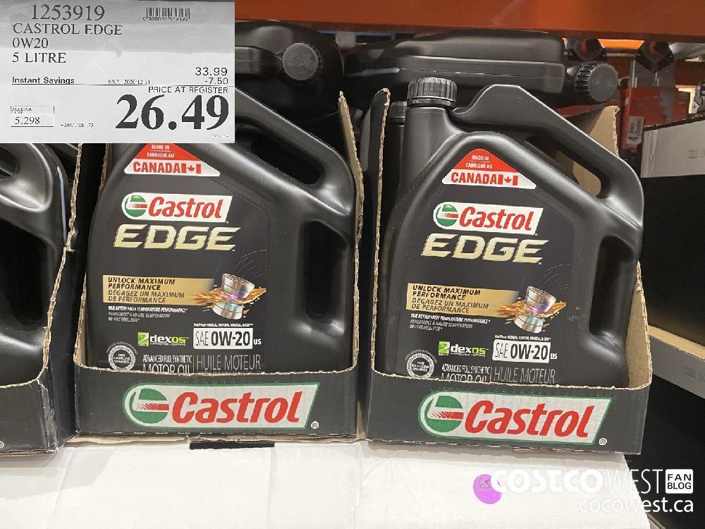 1253919 CASTROL EDGE OW20 5 LITRE EXP. 2020-12-31 $26.49