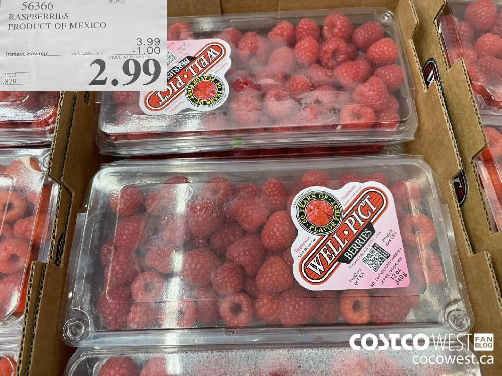 56366 RASPBERRIES PRODUCT OF MEXICO EXP. 2020-12-06 $2.99