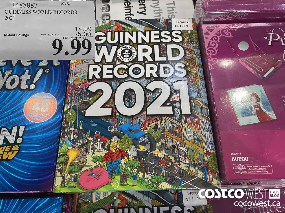 1488887 GUINNESS WORLD RECORDS 2021 EXP. 2020-12-13 $9.99