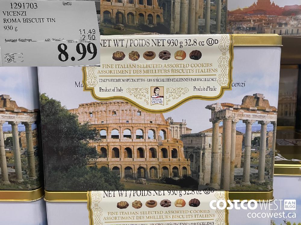 1291703 VICENZI ROMA BISCUIT TIN 930 g EXP. 2020-12-13 $8.99