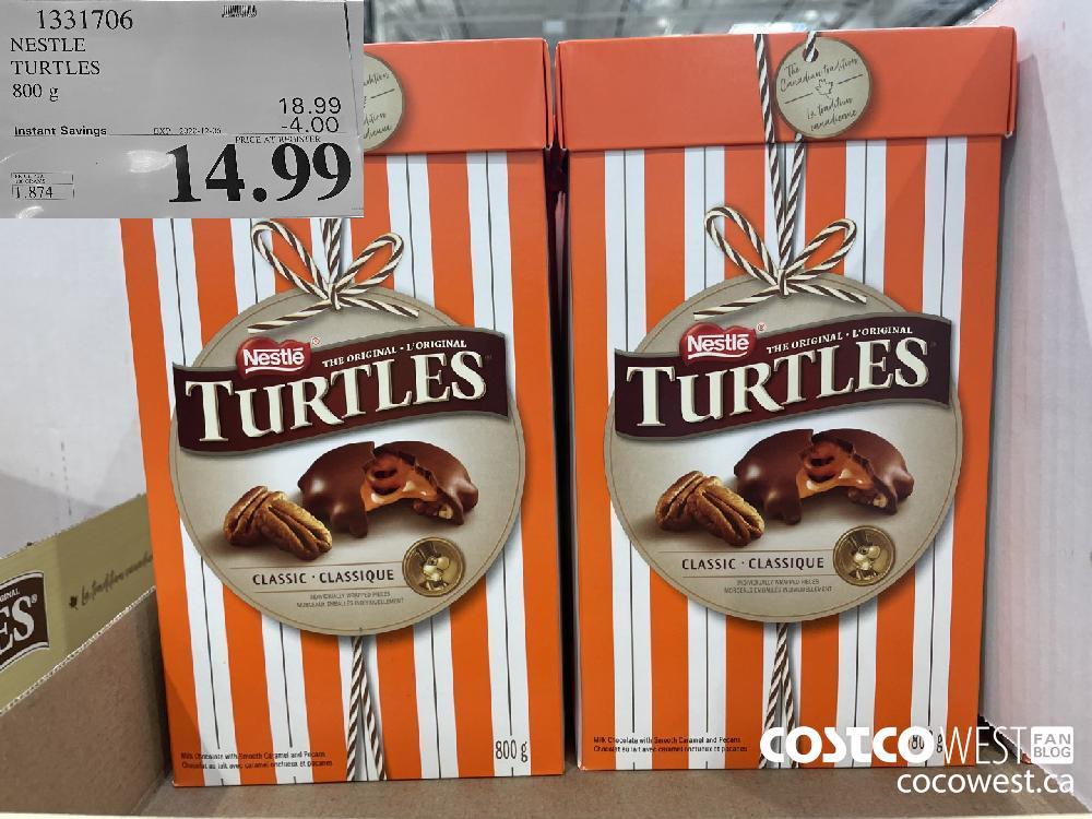 1331706 NESTLE TURTLES 800 g EXP. 2020-12-06 $14.99