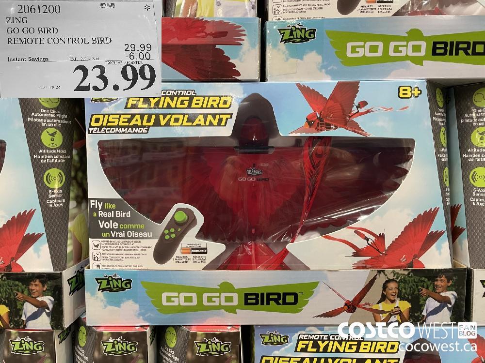2061200 ZING GO GO BIRD REMOTE CONTROL BIRD EXP. 2020-12-08 $23.99