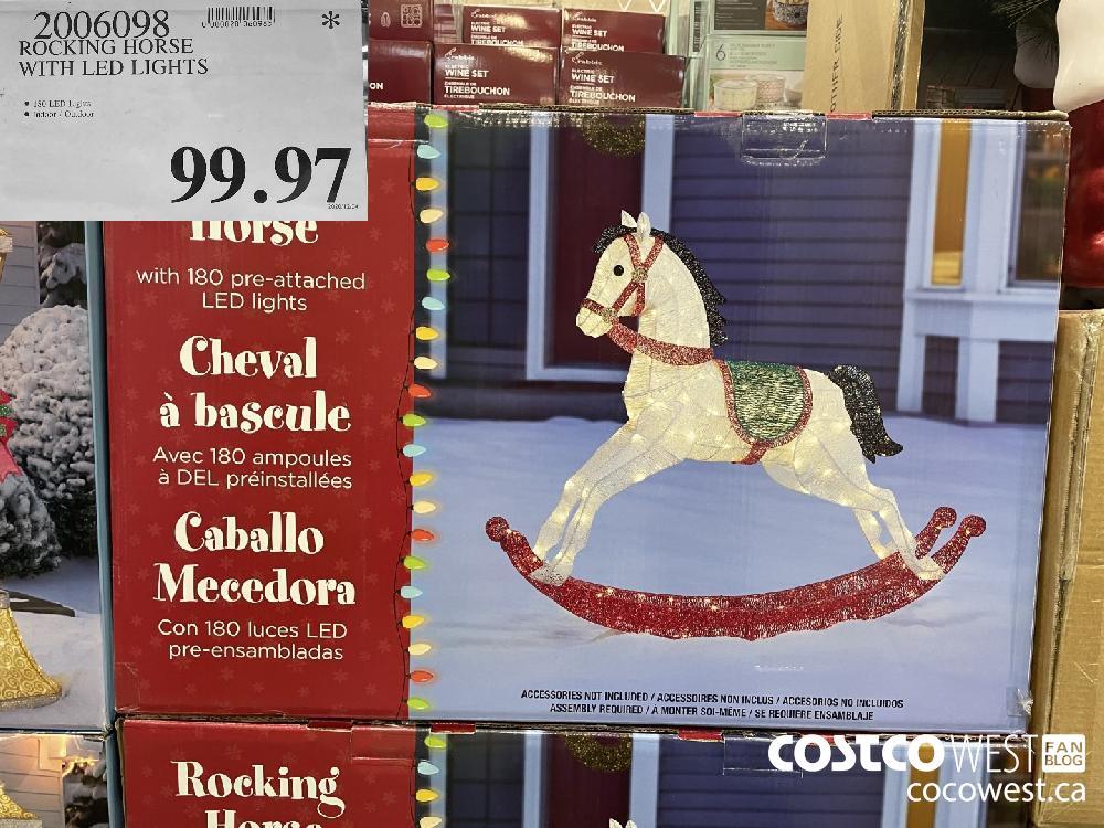 4006093 ROCKING HORSE WITH LED LIGHTS $99.97