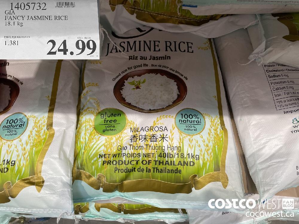 1405732 GIA FANCY JASMINE RICE 18.1 kg $24.99