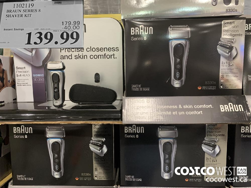 1102119 BRAUN SERIES 8 SHAVER KIT EXP. 2020-12-20 $139.99