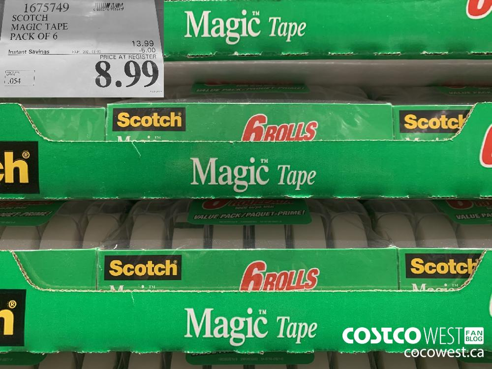 1675749 SCOTCH MAGIC TAPE PACK OF 6 EXP. 2021-01-03 $8.99