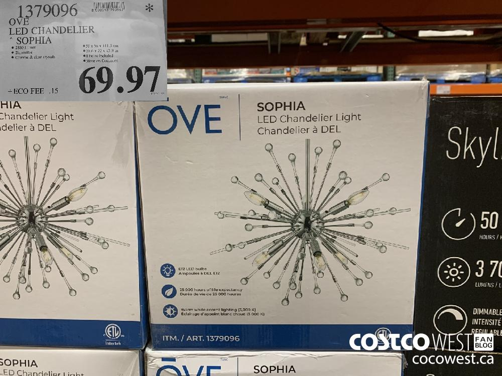 1379096 OVE LED CHANDELIER SOPHIA $69.97