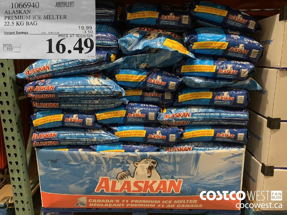 1066940 ALASKAN PREMIUM ICE MELTER 22.5 KG BAG EXP. 2020-12-09 $16.49