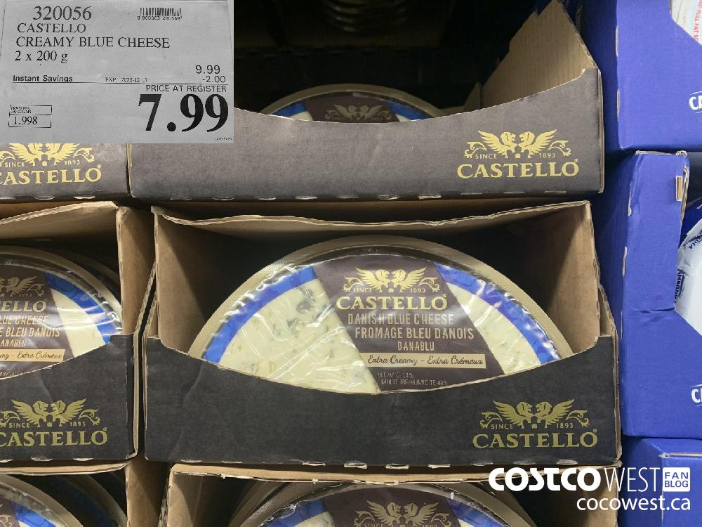 320056 CASTELLO CREAMY BLUE CHEESE 2 x 200 g EXP. 2020-12-13 $7.99