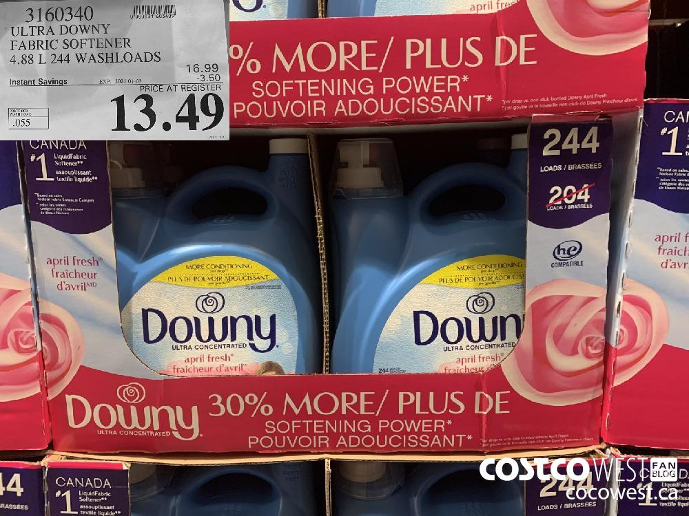 3160340 ULTRA DOWNY FABRIC SOFTENER 4.88 L 244 WASHLOADS EXP. 2021-01-03 $13.49