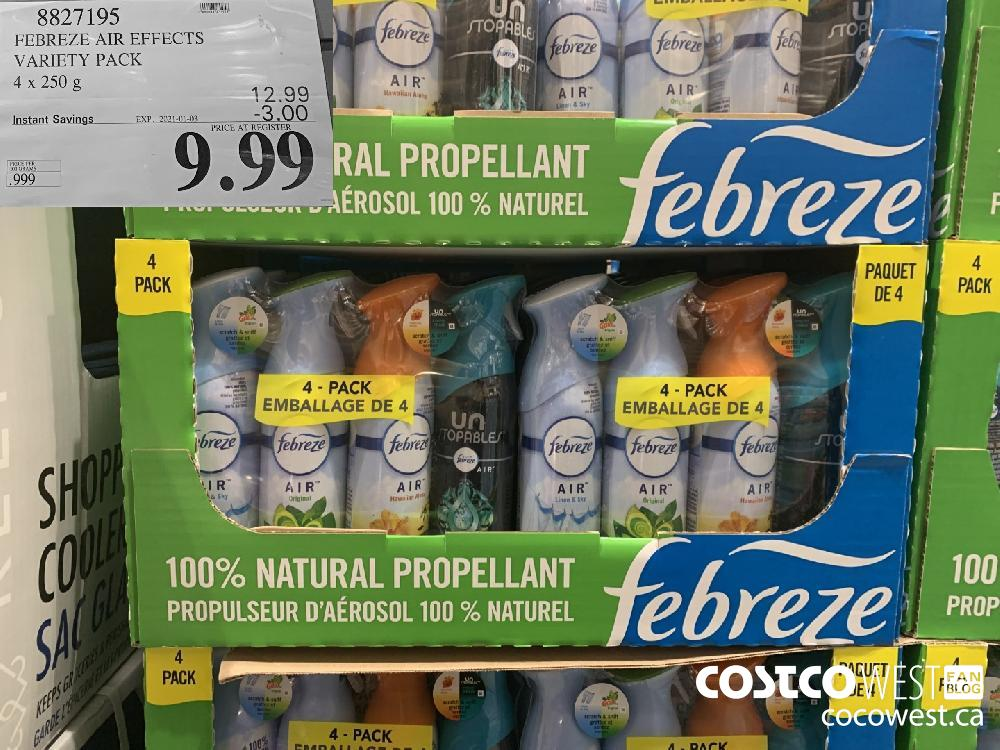 8827195 FEBREZE AIR EFFECTS VARIETY PACK 4x 250 g EXP. 2021-01-03 $9.99