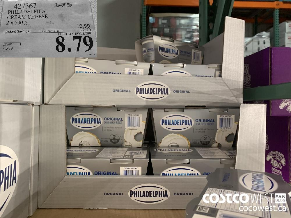 427367 PHILADELPHIA CREAM CHEESE 2 x 500 g EXP. 2021-01-03 $8.79
