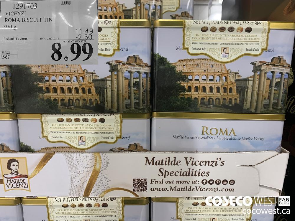 1291703 VICENZI ROMA BISCUIT TIN 930 g EXP. 2020-12-13 $8.99
