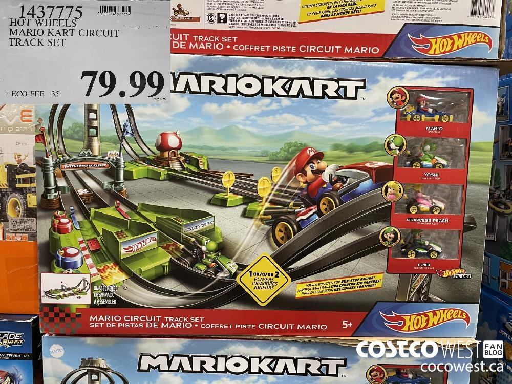 1437775 HOT WHEELS MARIO KART CIRCUIT TRACK SET $79.99