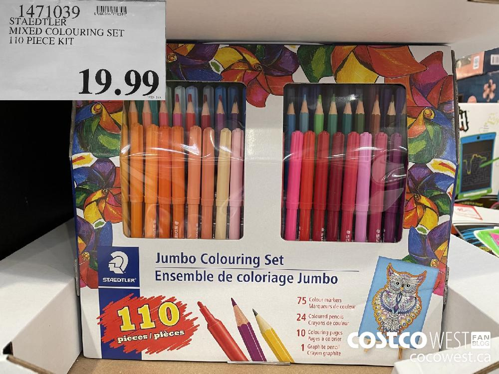 1471039 STAEDTLER MIXED COLOURING SET 110 PIECE KIT 19.99