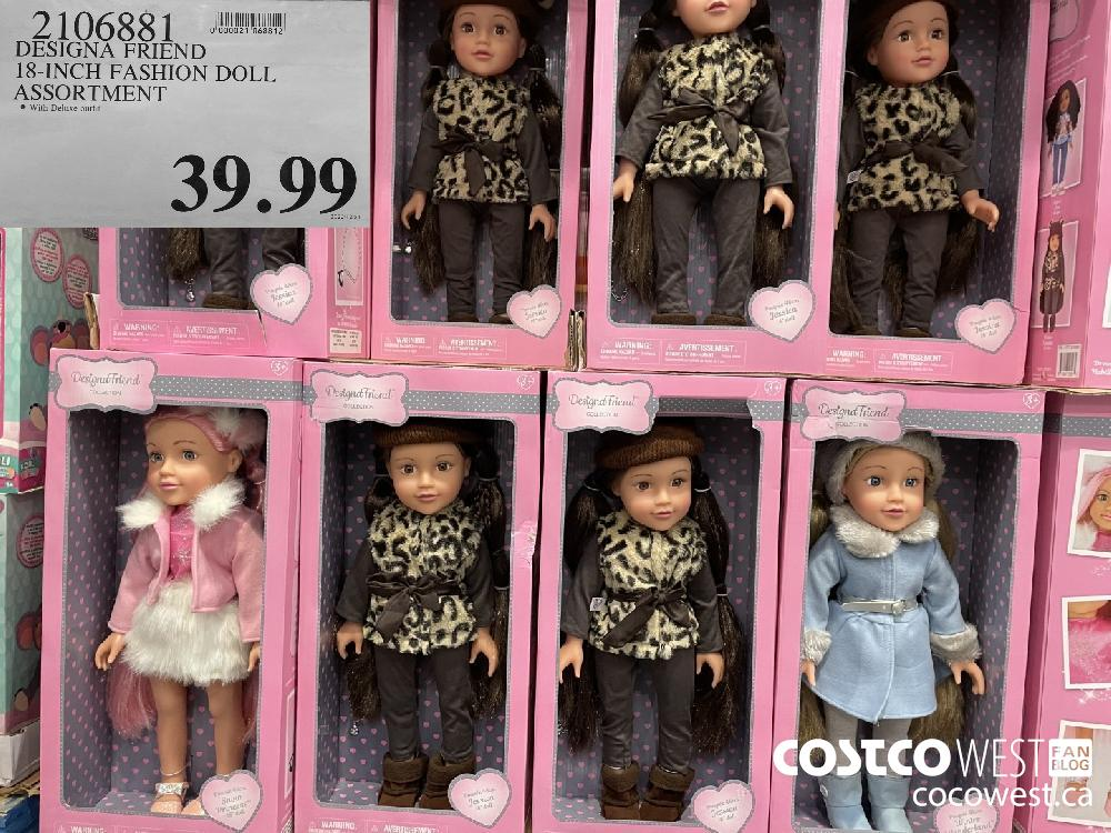 2106881 DESIGNA FRIEND 18-INCH FASHION DOLL ASSORTMENT $39.99