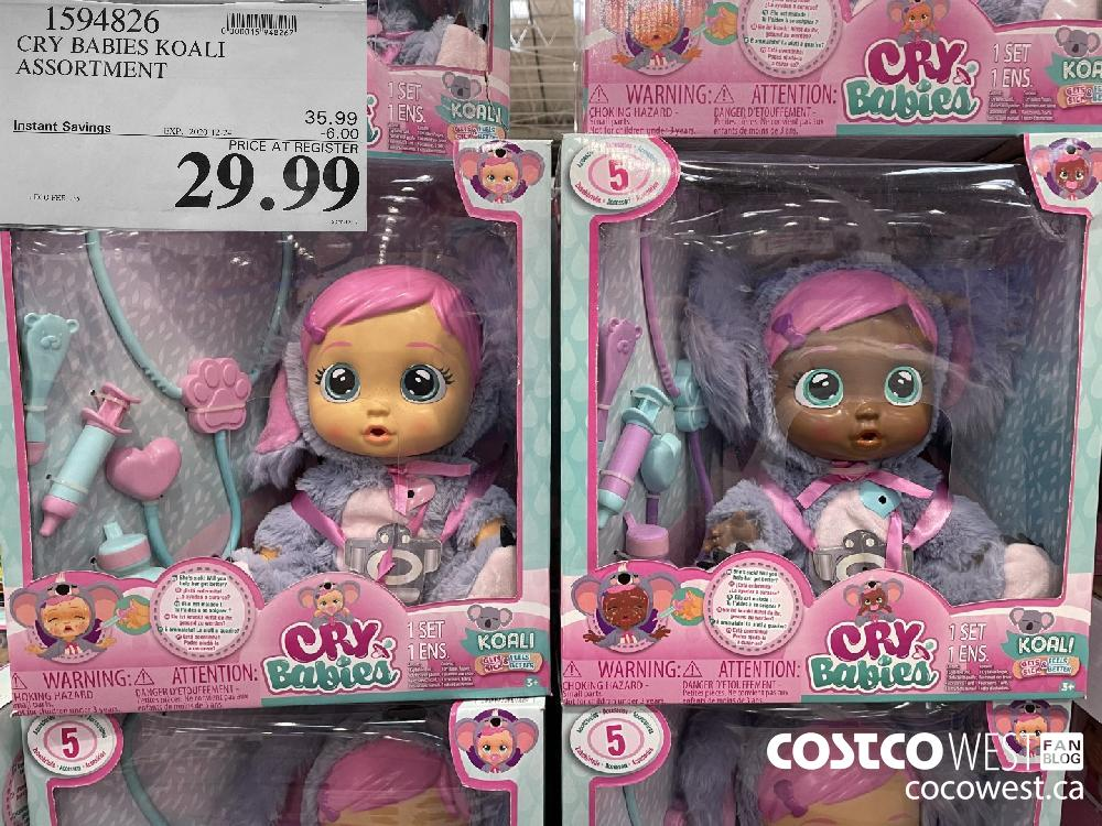 1594826 CRY BABIES KOALI ASSORTMENT EXPIRY DATE: 2020-12-24 $29.99
