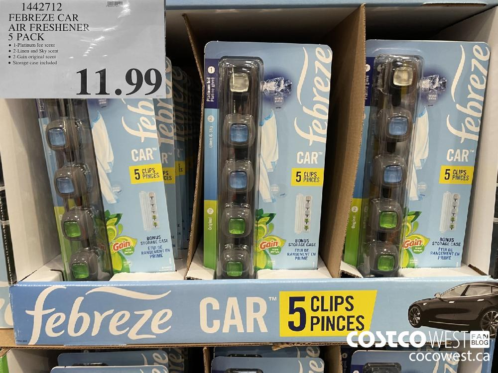 1442712 FEBREZE CAR AIR FRESHENER 5 PACK $11.99