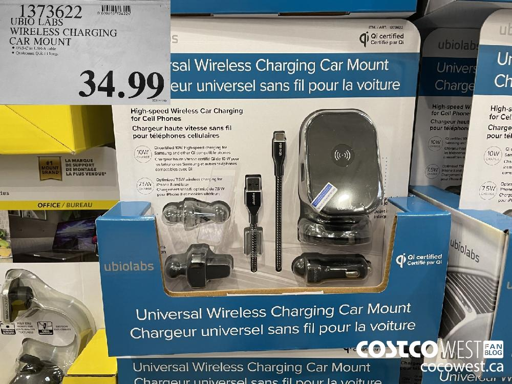 1373622 UBIO LABS WIRELESS CHARGING CAR MOUNT $34.99