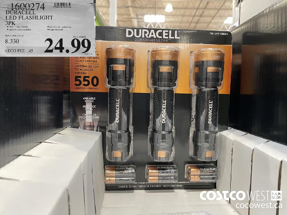 1600274 DURACELL LED FLASHLIGHT 3PK 24.99