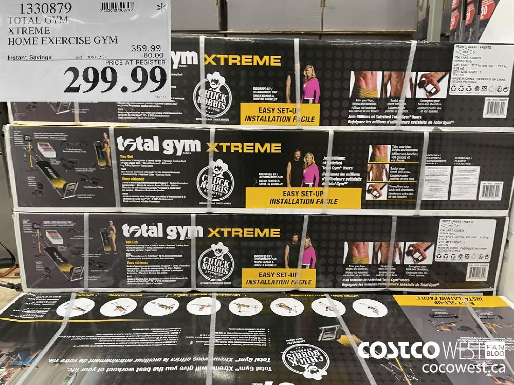 1330879 TOTAL GYM XTREME HOME EXERCISE GYM EXPIRY DATE: 2020-12-24 $299.99