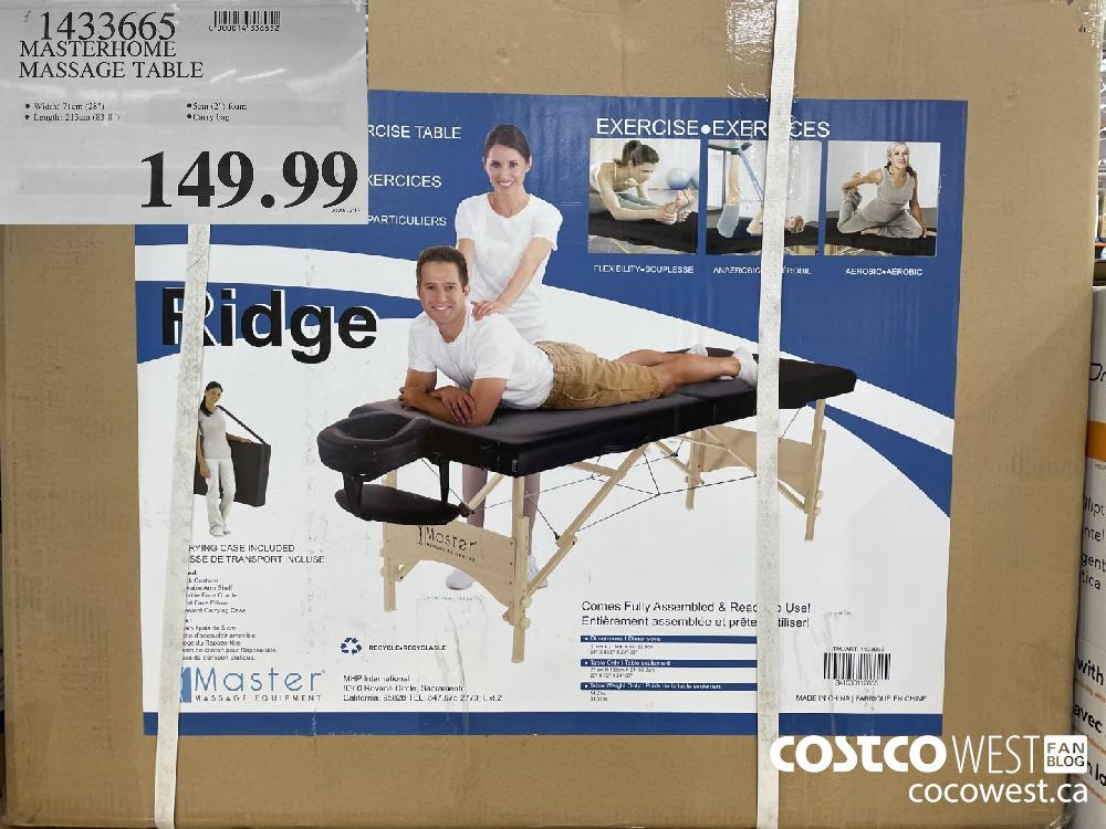 1433665 MASTERHOME MASSAGE TABLE $149.99