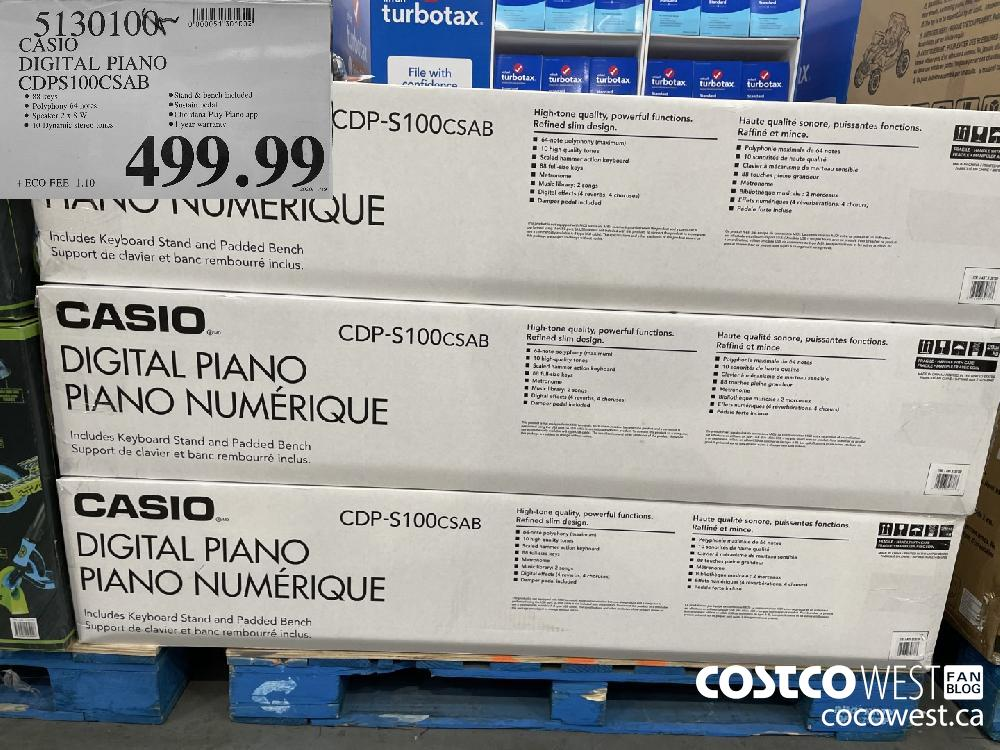 51301000 CASIO DIGITAL PIANO CDPS100CSAB $499.99