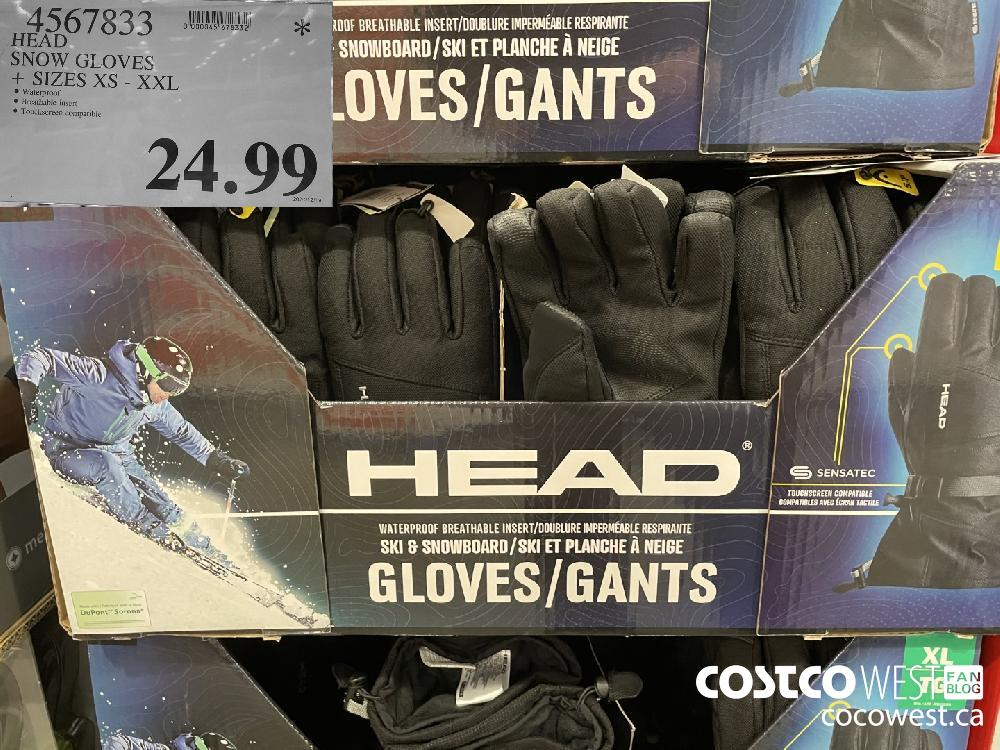 4567833 SNOW GLOVES SIZES XS-XXL $24.99