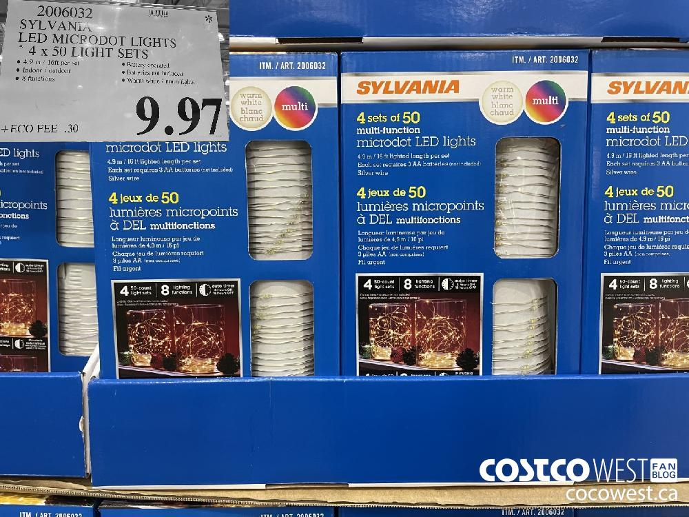 2006032 SYLVANIA LED MICRODOT LIGHTS 4x 50 LIGHT SETS $9.97